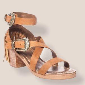 Matisse Brown Leather Fringe Sandals Size 8